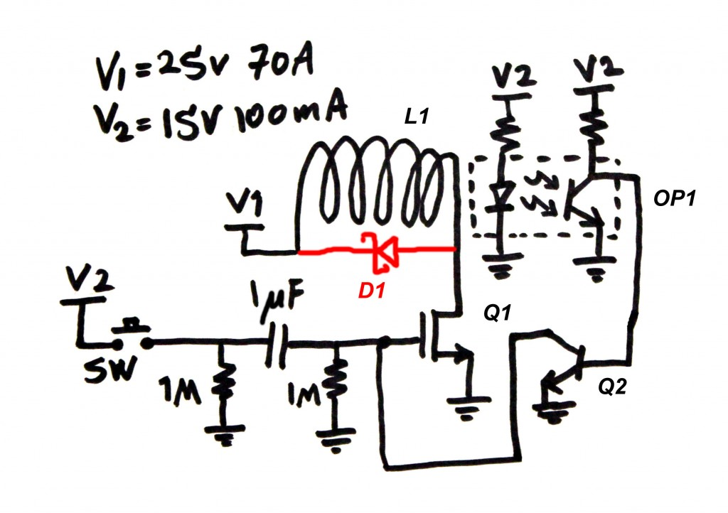 Circuit Schematic of the Coil Gun