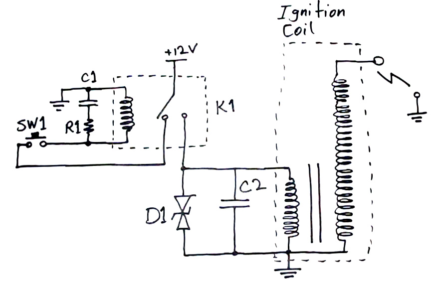 arcing circuit how to make a taser (stun gun) electroboom Briggs Magneto Wiring Diagrams at alyssarenee.co