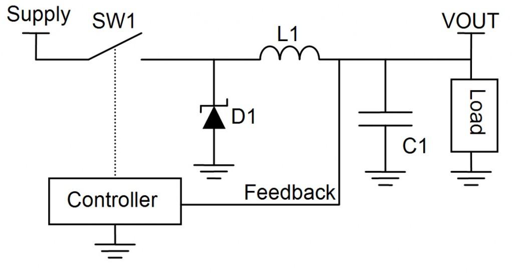Simplified Switching Buck Regulator Circuit