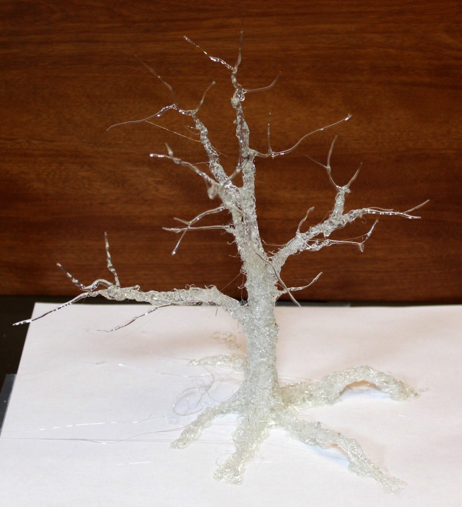 3D Orinted Tree with Hot Glue