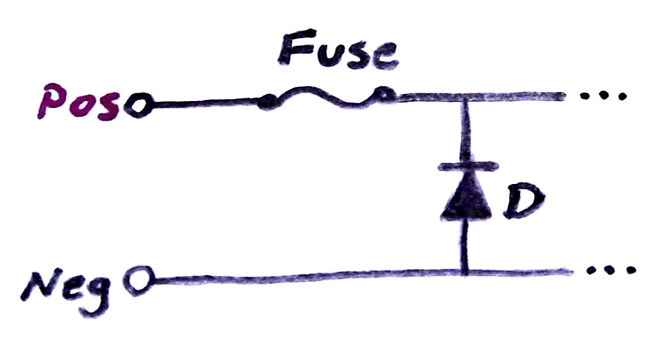 Reverse Polarity Protection Using a Fuse