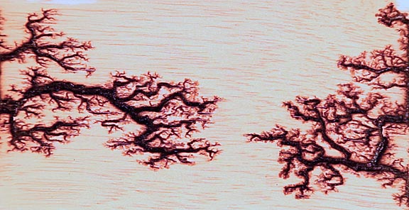 Lichtenberg Figures in Wood