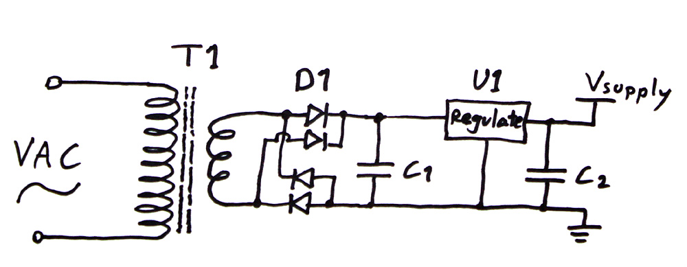 butt light  powering electronics remotely